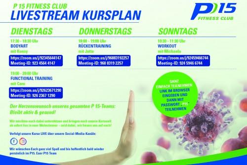 P15 Livestream Kursplan