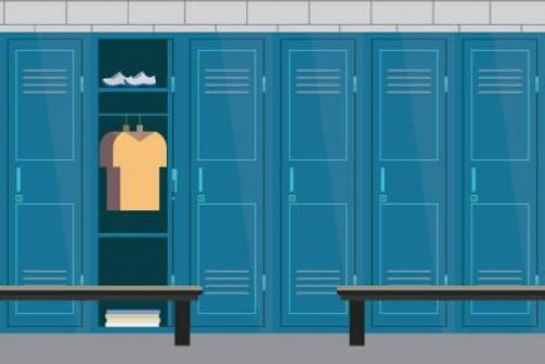 Duschen und Umkleiden