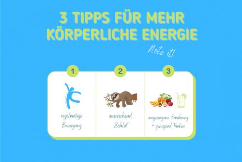 3 Tipps für mehr Energie