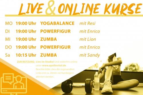 Deine LIVE & Online Kurse ab 21.06.2021