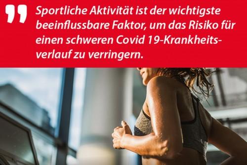 Neue Studie: Sportliche Aktivität gegen Corona!
